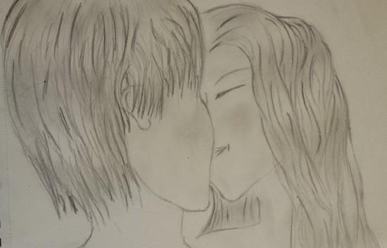 a kiss under the rain